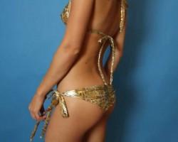 Bikini Beach Gold Cheetah J Valentine bikini model Kirkland
