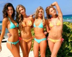 Beach Fun In Sexy TeenyB Bikinis