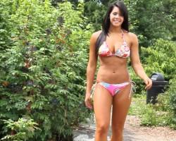 "Bikini Beach model Luli Fama ""Pura Vida"" swimwear"
