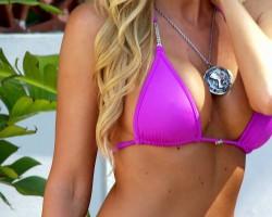 Michelle in a pink brazilian bikini