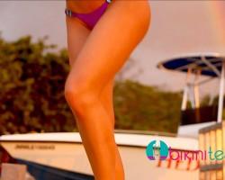 Samantha Harris Bikini Model in Jamaica
