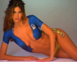 SOCCER WAGS Melissa Satta Bodypainting, SI Swimsuit 2010
