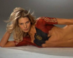SOCCER WAGS Sarah Brandner Bodypainting, SI Swimsuit 2010
