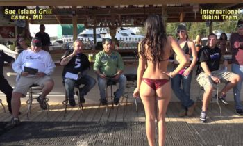 Bikini Contest at Sue Island Grill in Essex, MD