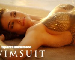 Lauren Mellor Shines In Glittery Sequin Body Painting | Sports Illustrated Swimsuit